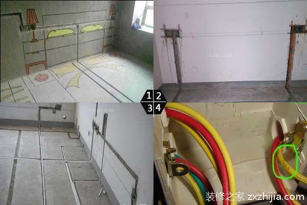 室内水电安装工人