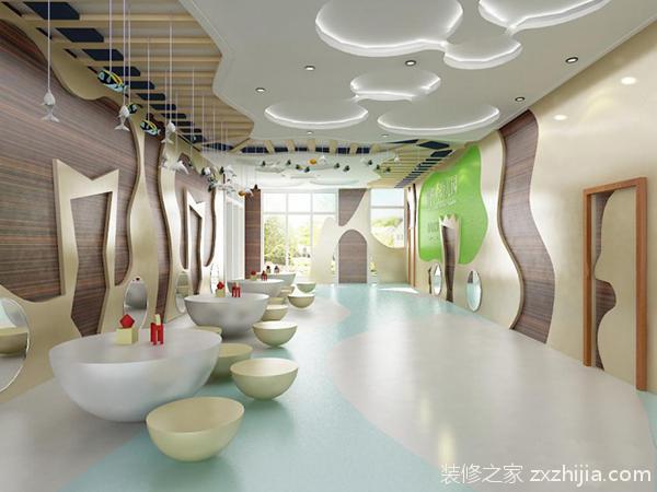 装饰墙面的材料颜色要淡雅,明快,要考虑环境的功能性以及采光情况.
