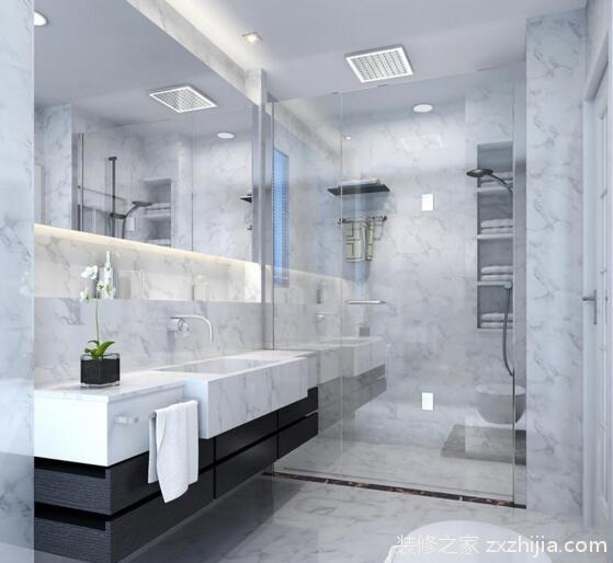 4、卫生间的门可以是里面一层是钻石玻,透光但是不透明,外面一层是清玻,清爽干净透明。卫生间用玻门,一是尽量防潮吧,二是玻门透光,晚上里面开着灯,就知道卫生间有人,防止冒失推门进去。 5、为了让卫生间保持干净整洁,装修业主们可在将淋浴和浴缸设置在一个角落,然后在其外面安装淋浴门或者拉帘,淋浴门可以有效的阻挡在湿区洗澡时产生的蒸汽和水珠进入干区。 以上就是关于卫生间干湿分离怎么装修的几个建议,总的来说卫生间做干湿分离特别实用。希望小编整理的知识能帮到您,更多专业的装修知识请关注装修之家装修网装修流程页面!