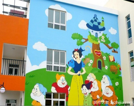 幼儿园外墙绘