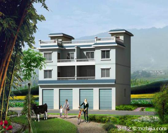 新农村住宅户型设计方案: 1、住宅尽可能紧凑化,注意里面的转折变化与高低错落,并经过规划排布与户外绿化环境设计融为一体。 2、住宅单体设计风格古典,但适应现代生活方式,并以经济实用为原则,强调大厅活动空间,做到全明设计,并结合凸窗设计以扩大室内空间和丰富临窗景观。 3、建筑立面采用简化三段式,屋顶平顶和构架相结合,外墙以棕色涂料为主,底部适当采用面砖,外加三根柱,既丰富了视觉效果,又增强的识别性。 4、住宅套内设计以客厅为中心,家庭内部公私分离,洁污分区,室内布置紧凑,设计中尽可能减少开向客厅到卧室的门