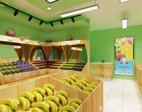 田園風格水果店裝修圖片