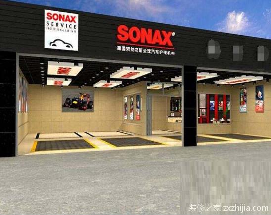 对汽车美容店内的高端形象影响很大的装修部位是地漏,设备和灯光,这三