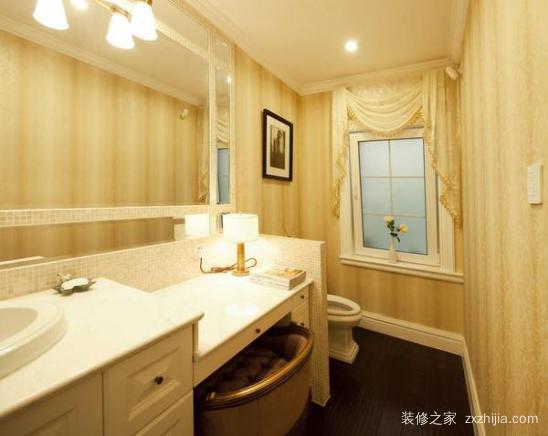 洗手台设在卫生间门外,如果将洗手台安装在卫生间的外面,会使屋内湿气