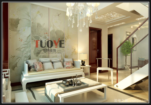 复式房挑空最大只能到达客厅面积的一半,其作用也有利于一楼的采光图片