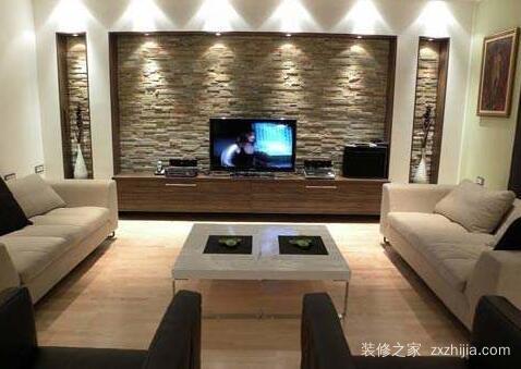 简单装修电视背景墙