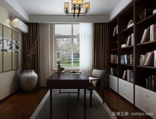 新中式软装设计书房