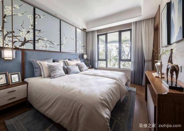 新中式卧室软装设计