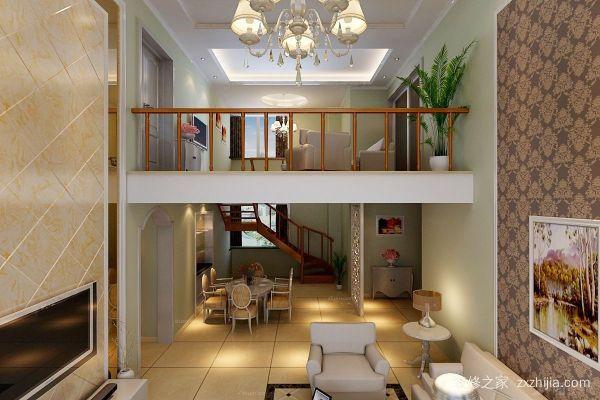 单身公寓扩容装修设计原则2,往下争取:利用复式,高架地板之阶梯处设计
