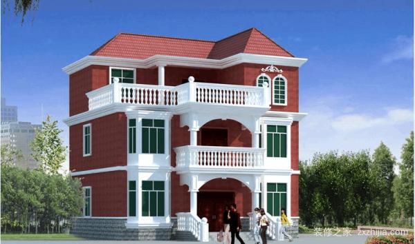 农村三层楼房装修