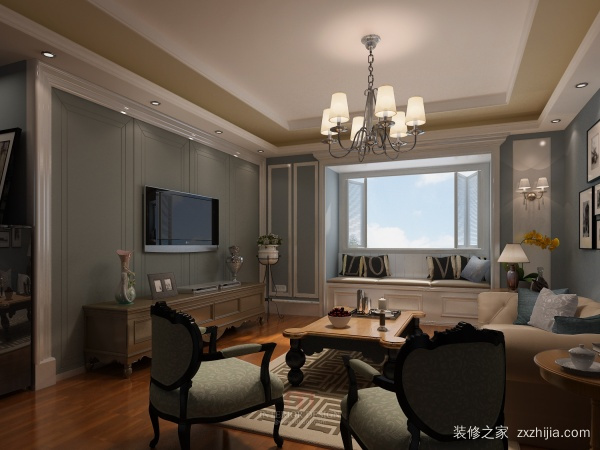 美式别墅客厅装修
