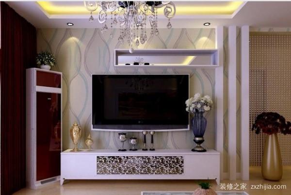 客厅电视墙装饰条