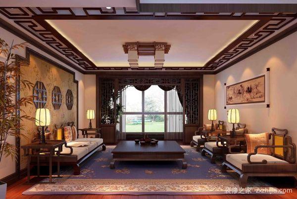 三室两厅中式风格装修