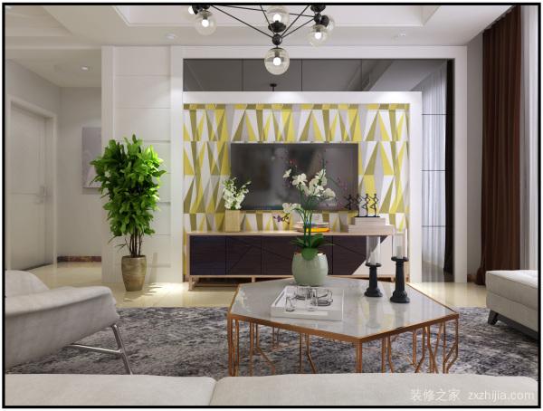 客厅电视背景墙设计风水