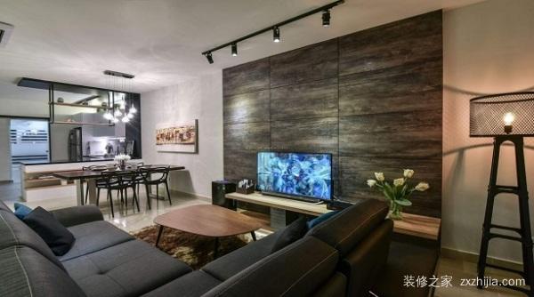 现代简装电视墙
