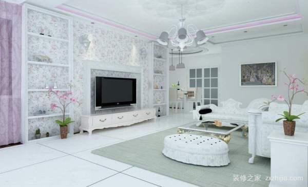 客厅影视墙装修设计方法图片