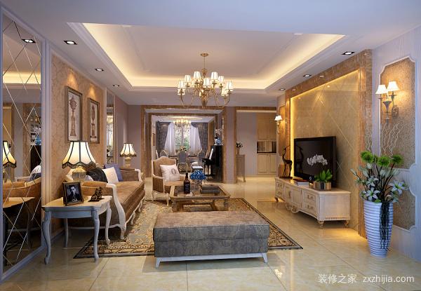 客厅装修简欧风格
