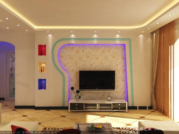 房屋装修电视墙设计