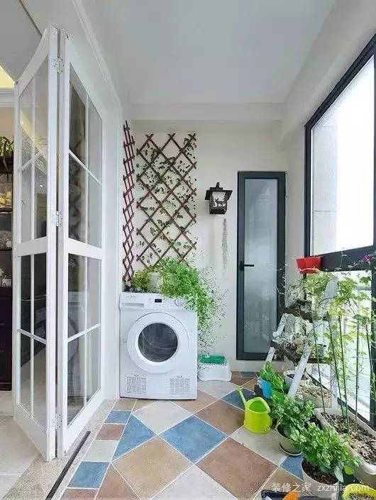 放洗衣机的阳台装修