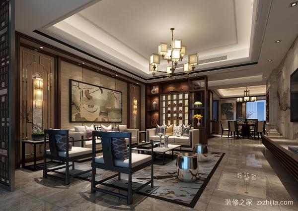 别墅装修 新中式客厅设计技巧 新中式风格特点