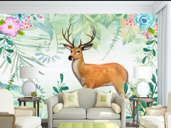 手绘背景墙有哪些优势?如何设计背景墙?