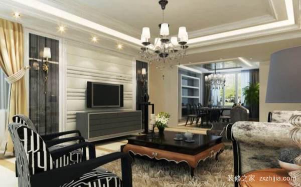 镜框线条电视背景墙的风格及安装