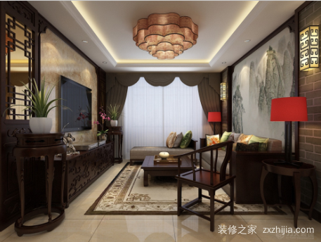 137平中式装修 韵味十足的中国风