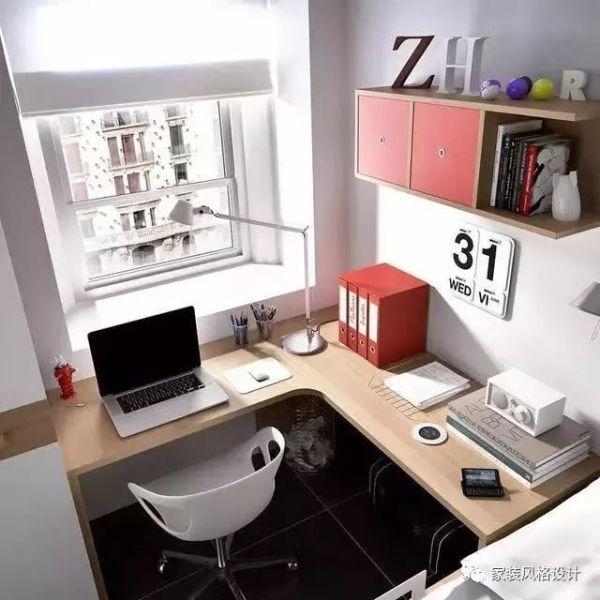 小户型装修窗前空间不要浪费,做个书桌飘窗都很不错