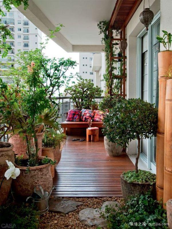 室内阳台花园怎么装修 阳台花园装修注意什么图片