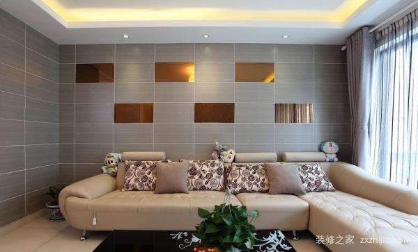 客厅瓷砖装修设计效果图:十七