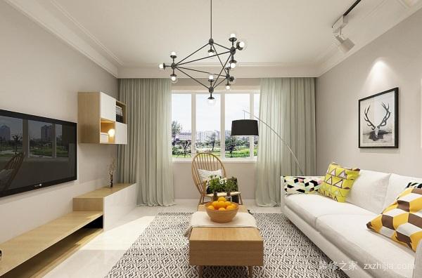 客厅北欧风格装修效果图:十二