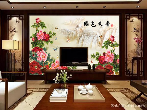 新中式风格电视背景墙装饰作用:八