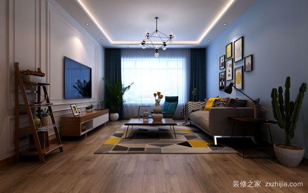 北欧风格的客厅装修效果图:十二