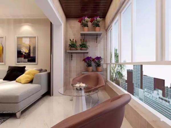客厅带阳台装修效果图技巧解析 阳台装修事项