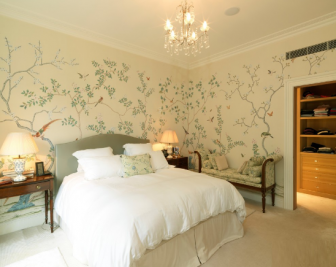 浪漫唯美卧室壁纸装修效果图赏析