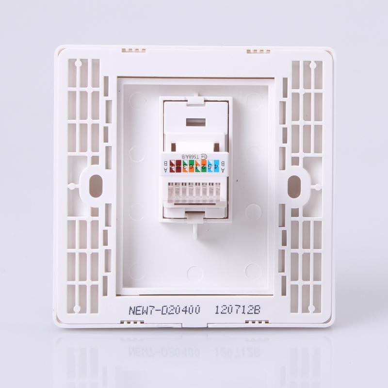 墙壁网线插座接法,网线插座接法的注意