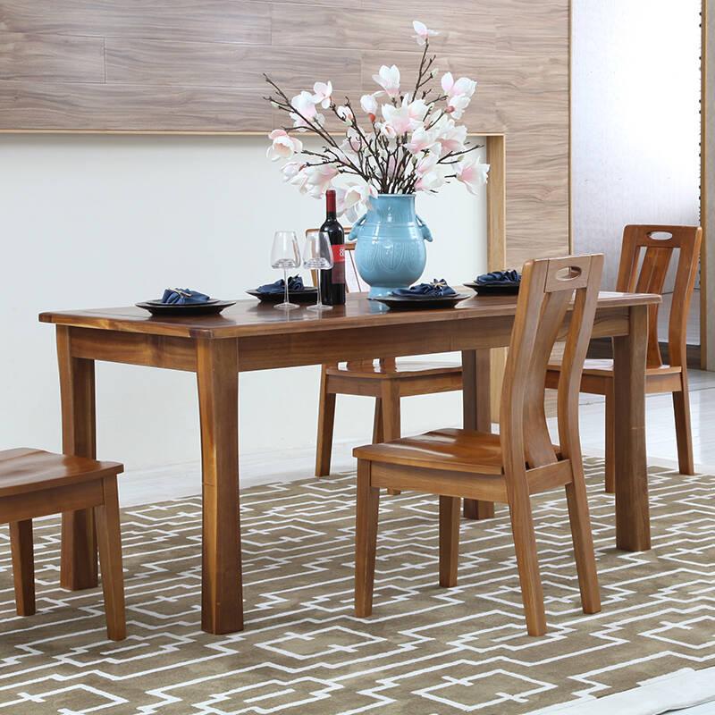 实木餐桌椅价格介绍  食堂实木餐桌椅价格