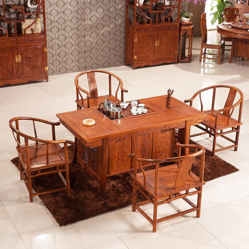 红木茶桌简介 红木茶桌的优点及保养方法
