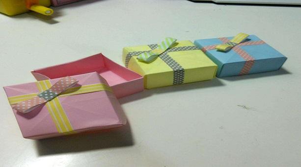 简单手工折纸收纳盒折法
