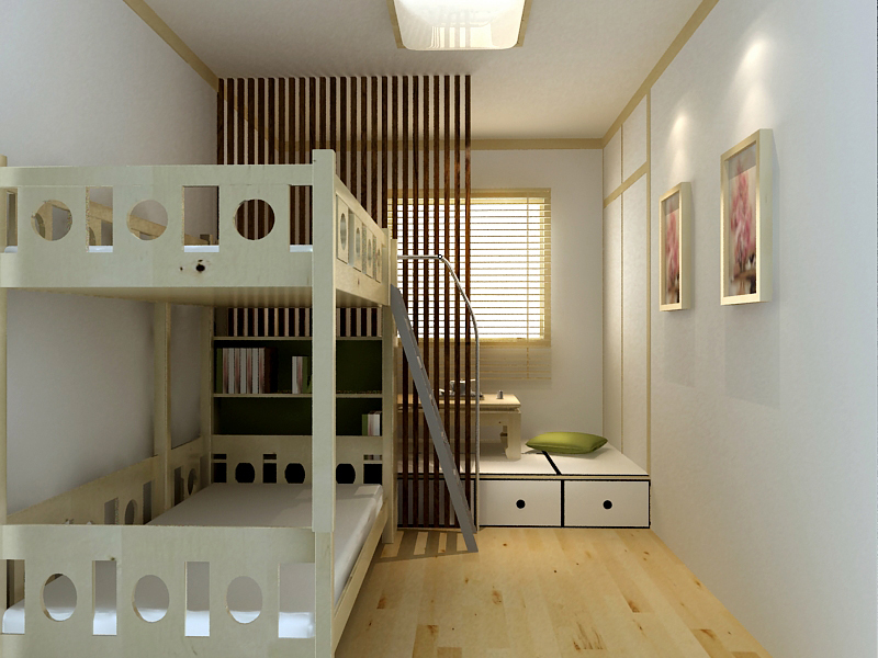 38平一室改两室效果图