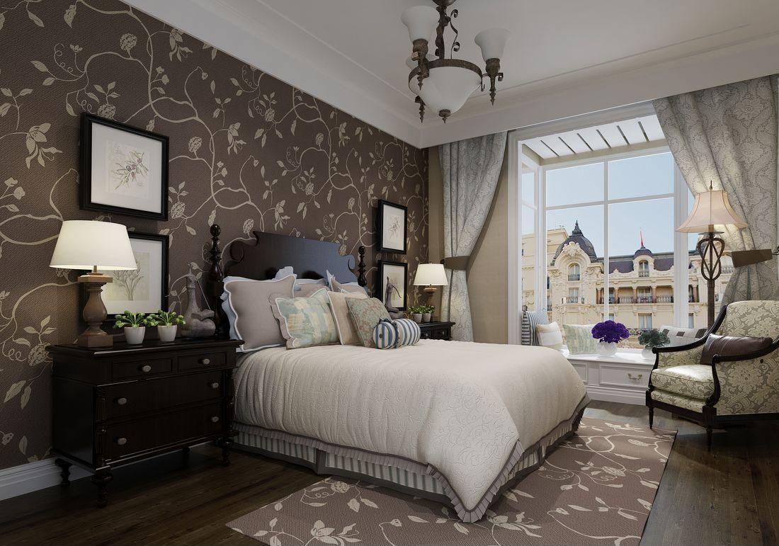 卧室壁纸装修的效果图 卧室壁纸搭配
