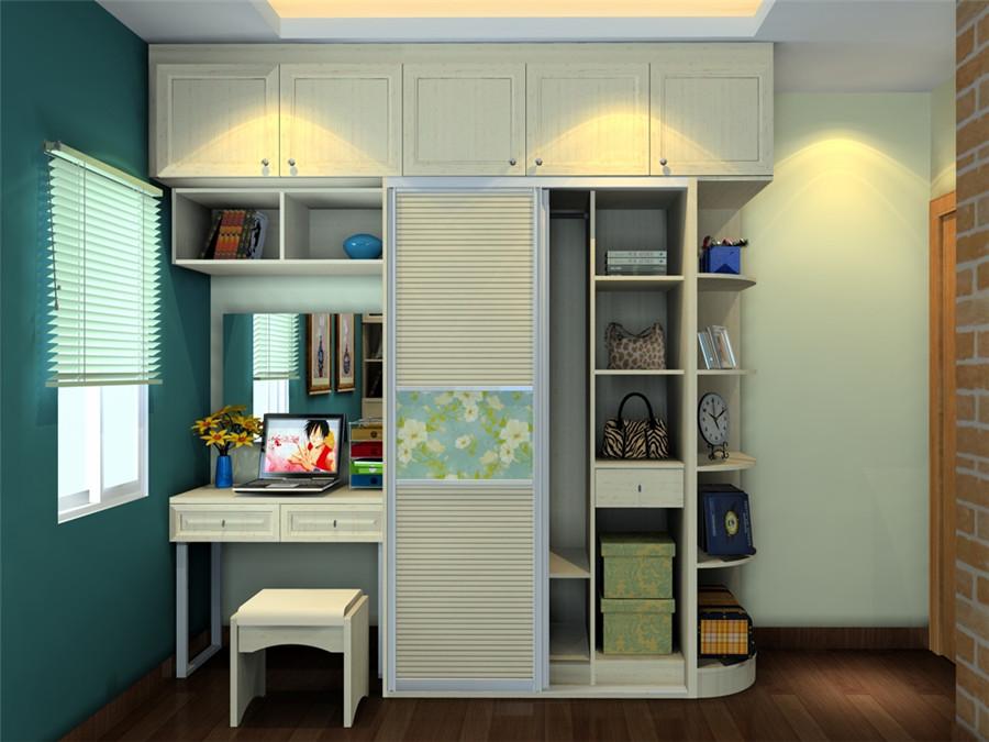 床,衣柜,电脑桌,梳妆台,怎么摆合适,衣柜最少6门.床1米2×2米.图片