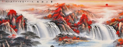 风水画招财的有哪些寓意?家中挂山水招财画的好处。