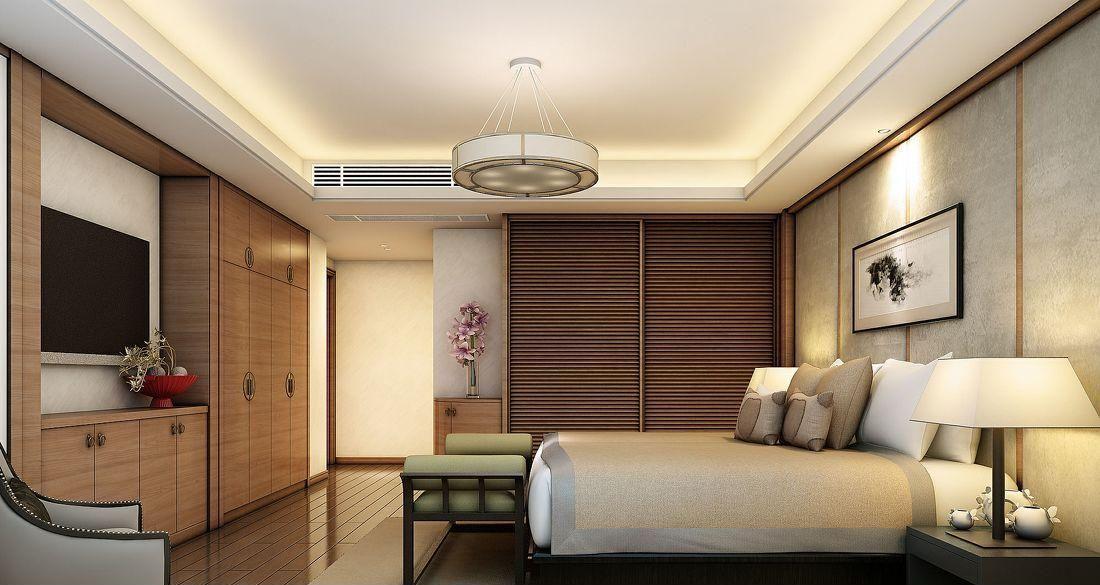 中式卧室装修效果图图片