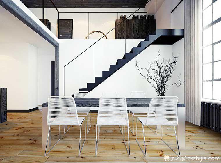 80㎡简欧风复式公寓设计图 那些静态的美图片
