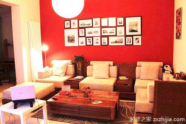 10个红色客厅背景墙装修 新年要有中国味