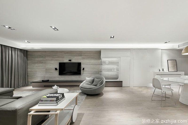 美式混搭风格三室两厅室内装修 设计有魅力