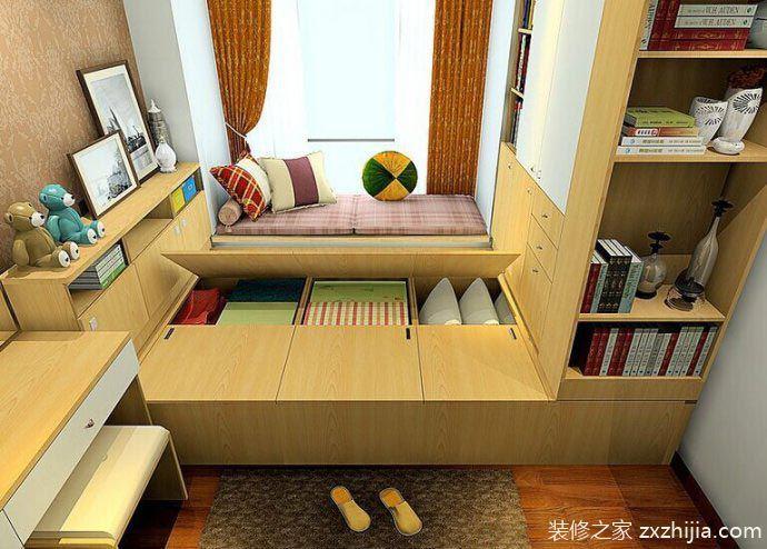 万能的家居 10个小房间榻榻米床收纳效果图图片