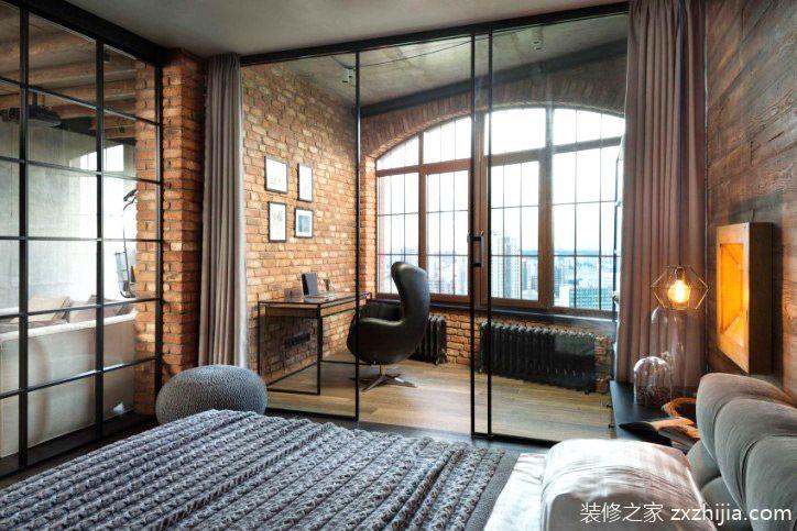 工业风格单身公寓装修图 粗犷与细腻的碰撞