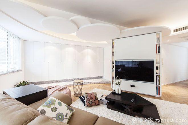 隔斷電視墻裝修效果圖大全 隔出客廳通透感